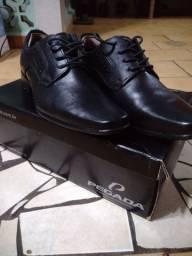 Sapato social preto da Pegada número 39 couro preto