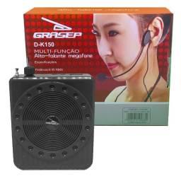 Amplificador Megafone Microfone D-k150 Grasep Gravador Preto