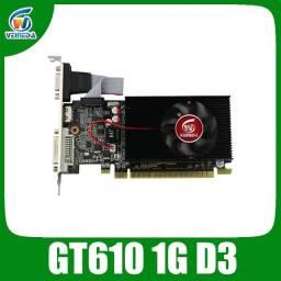 Placa de Vídeo GeForce GT 610, Memória 1GB, DDR3, 1000 MHz