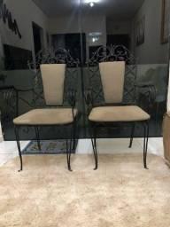 Cadeiras de ferro rústica antigas