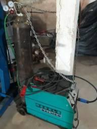Máquina mig com gas 355amp