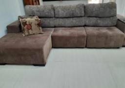 Sofá retrátil e reclinável com chase é poltrona