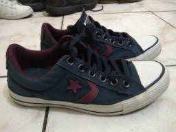 Tênis Converse All Star Player Ox - cor bordô - n.37