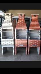 Promocão de churrasqueira pre moldada 450$