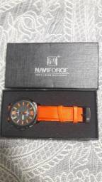 Relógio Naviforce Laranja pulseira nylon