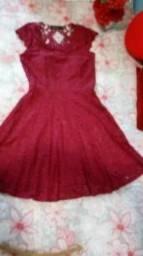 Vestido Rendado Com Bojo (seminovo)