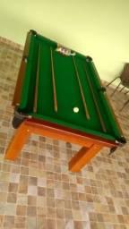 Mesa Tentação de Bilhar Cor Imbuia Tecido Verde Mod. PTXC3839