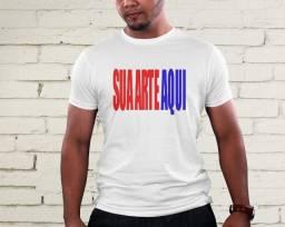 Camisa branca poliéster personalizada