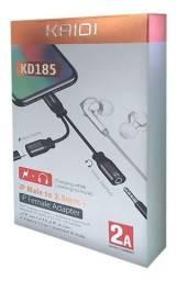 Adaptador iPhone para Fone P2 E Carregamento