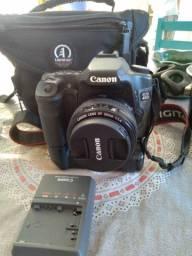 Canon eos 40d com grip e lente 50mm 1.4