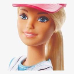 Boneca Barbie Feita Para Mexer Jogadora Beisebol
