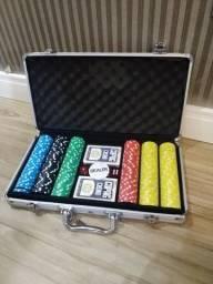 Maleta de Poker 300 fichas Holográficas Com Numeração