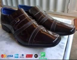 Sapato Social Verniz Envernizado Brilhoso (Entrega grátis/gratuita)