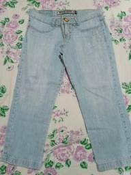 Calça Jeans Claro Capri Remember- Tamanho 40