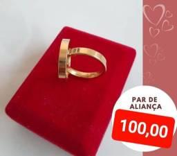 ALIANÇAS 100,00 PAR PROMOÇÃO