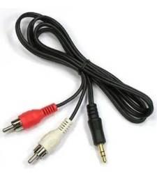 Cabo Auxiliar P2 Macho X Rca Macho Audio 1m Som - Loja Natan Abreu