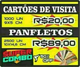 QBARATO! CARTÃO DE VISITA PANFLETOS BLOCOS TAIS UMAS CALENDÁRIO ADESIVOS E MAIS