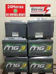Bateria MG3 100ah amperes - 12 meses de garantia - 12x sem juros