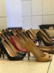 Lote de sapatos novos em couro liquidação