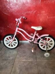 Vendo bike aro 16 feminina caloi em bom estado só pegar e andar