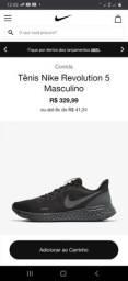 Nike Revolution 5 novo original preto