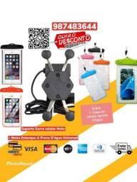 *Oferta* Suporte Garra Celular Moto Carregador Usb +Saco a prova d água