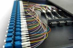 Fibra óptica Cabeamento estruturado, Rede wireless,Cftv
