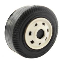 Jogo 200 Rodinhas de Plástico 4cm P/ Caminhão Brinquedo Carrinho Ônibus Miniatura