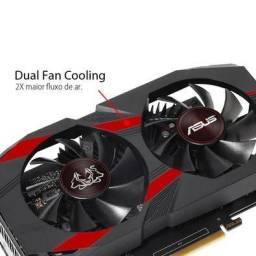 Código: 95459<br>Placa de Vídeo Asus NVIDIA GeForce GTX 1050 Ti OC Cerberus 4GB, GDDR5 -