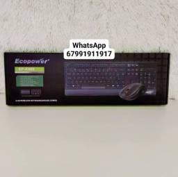 Kit teclado e mouse sem fio ecopower