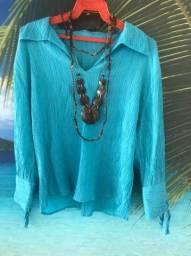 Título do anúncio: Blusa manga longa azul claro