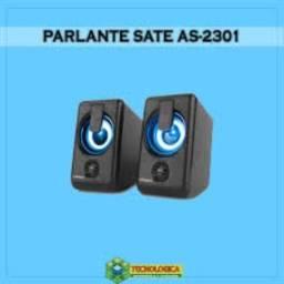 Caixa de som para pc notbook Sate AS-2301 gaming speaker 2.0