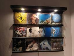 Painel iluminado para discos de vinil ou fotos