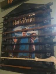 9 varinhas Harry Potter + expositor