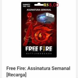Recargas Free Fire(Semanal e Mensal)