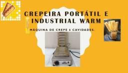 Crepeira portátil e Industrial Warm 6 crepes