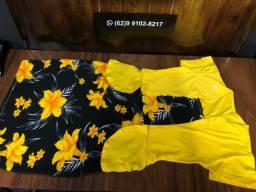 Vestido GG Amarelo Novo
