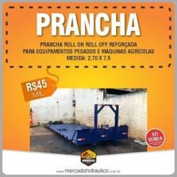 Prancha Roll on roll off reforçada para equipamento pesado e máquina agrícola
