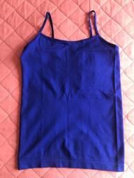 Vendo blusa de alcinha P azul