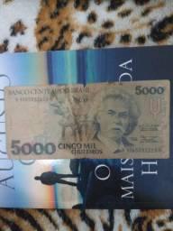 Cédula Antiga 5 mil Cruzeiros