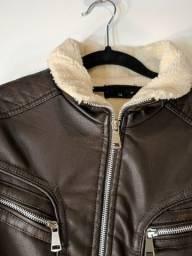 Jaqueta infantil couro