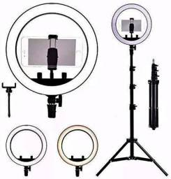 Kit Iluminador LED Ring Light 10 polegadas Circular-(Lojas Wiki)