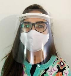 Face Shield Máscara de Proteção Acrílico Cristal 0.5 mm