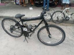 Bicicleta com motor 6seg de 80cc aceita cartão