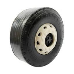 Kit 200 Rodas Plásticas 8cm Para Brinquedo Carreta Caminhão Em Miniatura Ou Ônibus