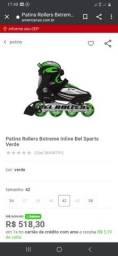 Patins Rollers Bxtreme Inline Bel Sports Verde está semi novo