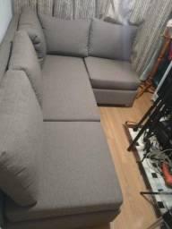 sofa modular fino acabamento e designer moderno