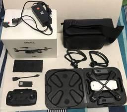 Drone gps DJI Spark com kit fly more com selo Anatel original