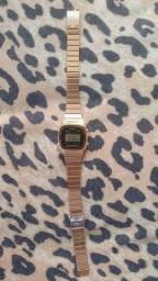 Relógio feminino Casio digital dourado original