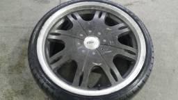 Roda aro 18 TSW Fechada grafite com Borda diamantada Volkswagen Fox 5X100 jogo